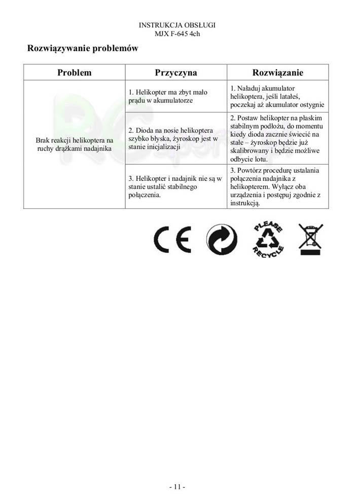 InstrukcjaHelikopteraMjxF645-11