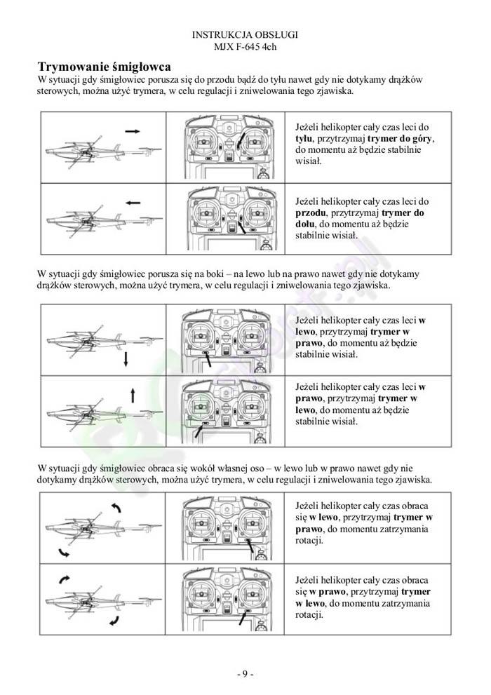 InstrukcjaHelikopteraMjxF645-9